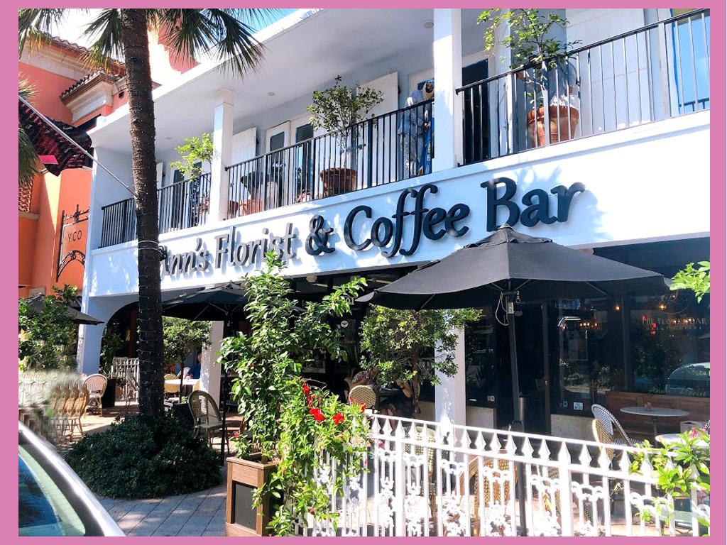 米フロリダ・フォートローダーデールを訪れる日本の女の子たちへ「Ann's Florist Coffee & Wine Bar」が可愛い♡ショッピング・アドレス