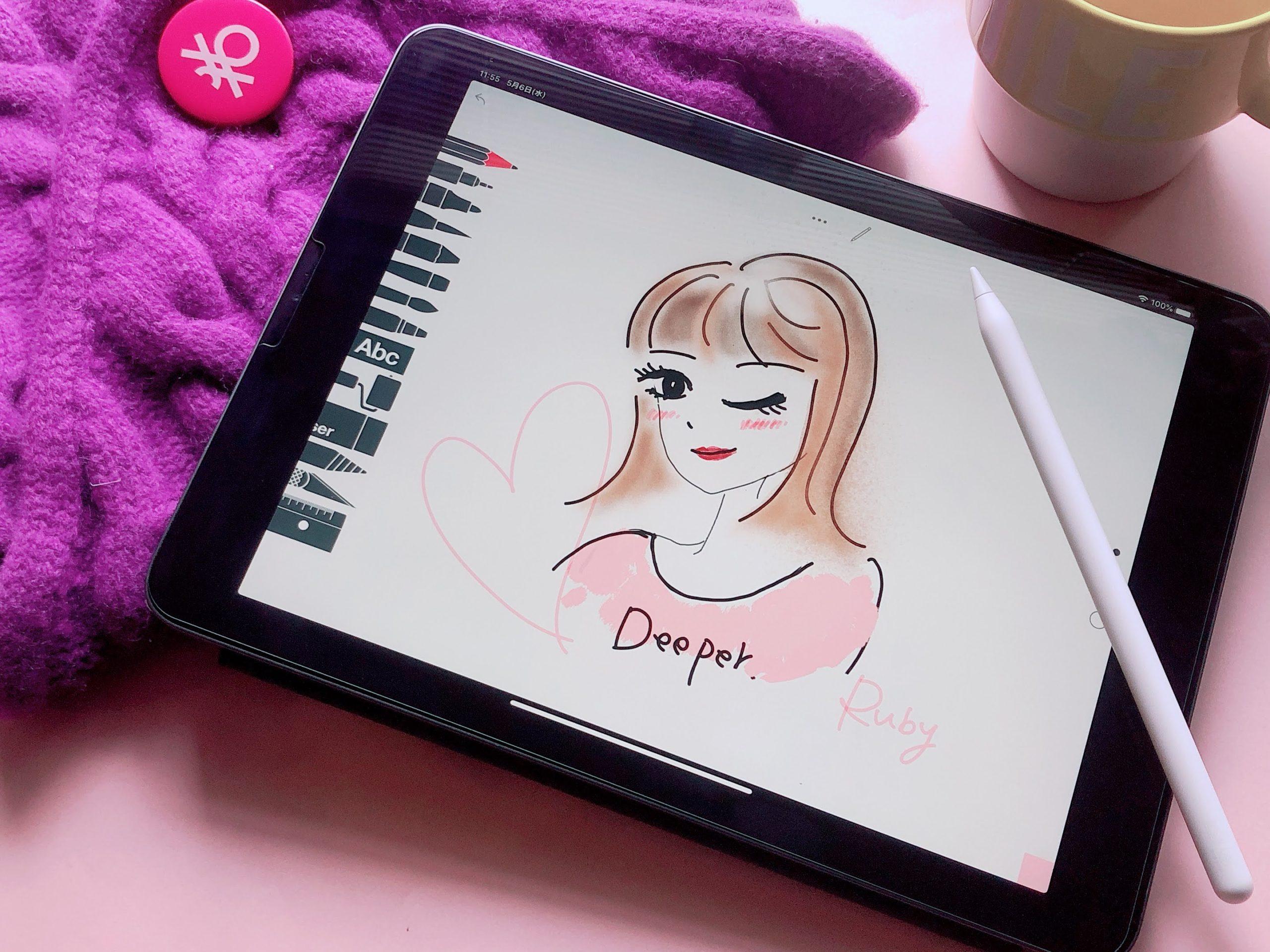 右脳のアウトプット!新しい道が拓けるかも♡iPad Pro 11インチとTayasui Sketches School で充実の#Stay at Home