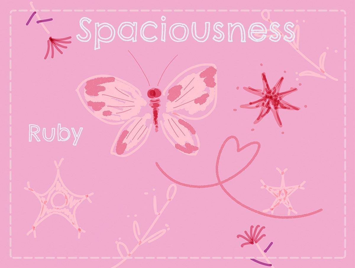 【Spaciousness】広々・ゆとり