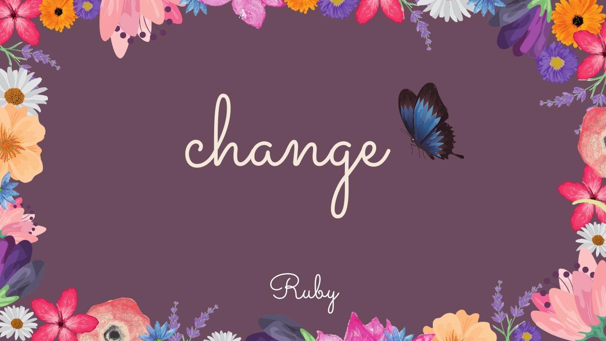 【change】七夕から愛を持って行動する人にチェンジ