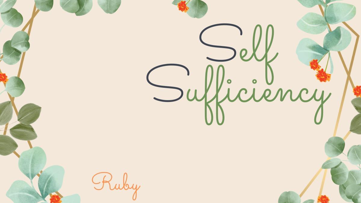 価値感が変わるよ【Self-Sufficiency】究極の自給自足をプランして